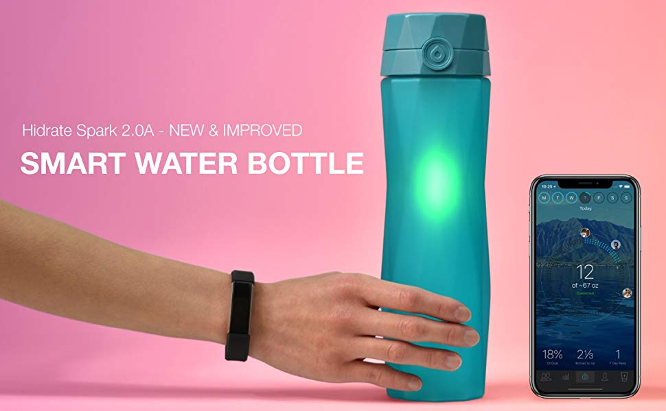 Smart Water Bottle Tracks Water Intake Glows To Remind You To